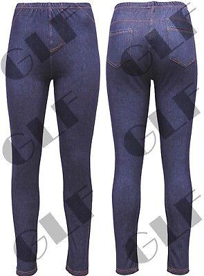 Verantwortlich Women Ladies High Waisted Jeggings Slim Jeans Skinny Stretchy Denim Pants