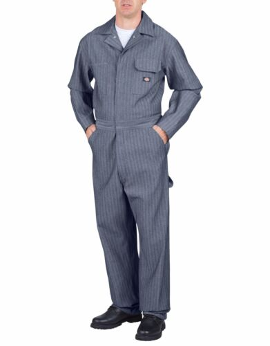Dickies Men/'s Fisher Stripe Long Sleeve Cotton Coveralls 48977FS