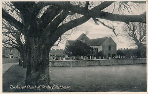 PC41924 The Ancient Church of St. Mary. Portchester. 1933