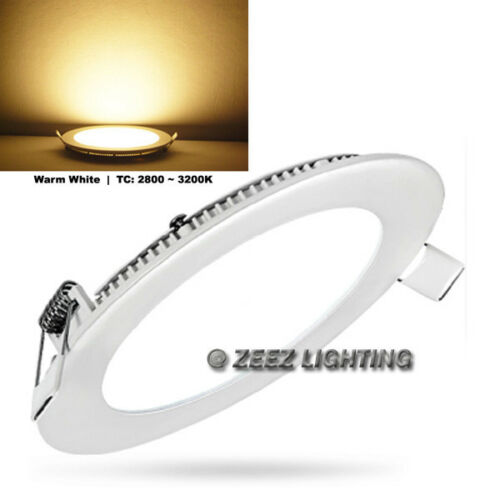 """25W 11/"""" Round Warm White LED Dimmable Recessed Ceiling Panel Down Light Fixture"""