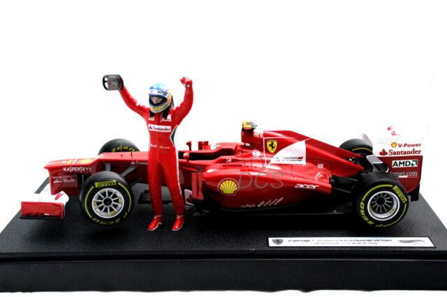 HOT WHEELS FERRARI F2012 F.ALONSO F1 GP MALAYSIAN WINNER LIM:3500PCS 1/18 #BBW94