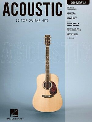 Acoustic Sheet Music Easy Guitar with Notes & Tab Easy Guitar Book NEW 000702287
