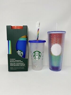5 Pack Confetti Cold Cup  Tumbler  cup and straw  Venti Cup