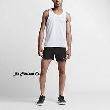 Nike Breathe Men's Running Tank Top L White Gym Casual Training Sleeveless New