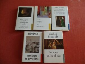 SERIE-LA-BIBLIOTHEQUE-DU-XXe-SIECLE-5-TOMES-JASPERS-ALAIN-WEBER-BRETON-FOUCAULT