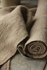 RUSTIC homespun hemp linen fabric upholstery fabric 4.5y material cloth organic