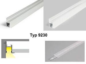 alu profil f r led band alu wei aluminiumprofil decke beleuchtung typ 9230slide ebay. Black Bedroom Furniture Sets. Home Design Ideas