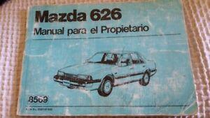 Manual para el propietario Mazda 626 de 1985