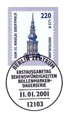 Schnelle Lieferung Brd 2001: Greifswalder Dom! Swk Nr. 2157 Mit Berliner Ersttags-sonderstempel!
