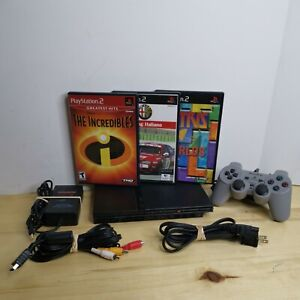 Sony PS2 Playstation2 Bundle~ 3 Games, 1 Controller & Cords #TESTED, WORKS#READ#