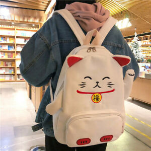 Women-Girl-Cat-Bag-Backpack-Lolita-Japanese-Student-School-Kawaii-Canvas