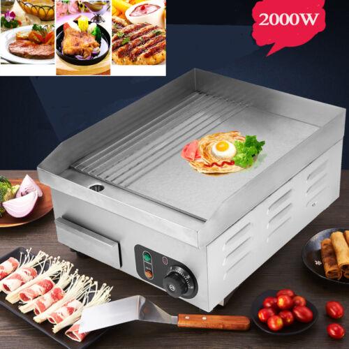 2000W Profi Elektro Grillplatte Griddleplatte Bräter Bratplatte Griddle Gastro