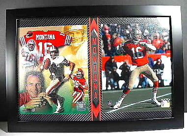 Joe Montana  16 collage San Francisco 49 ERS, Placca Muro Immagine, 51 CM, NFL Footbtutti