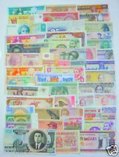 102 Different paper money collection ,worldwide UNC, new banknotes, all genuine!