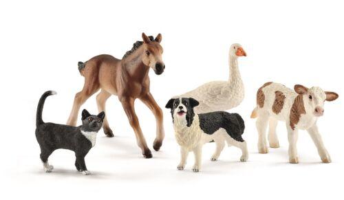Schleich 42386 granja world animal-Mix con 5 animales de granja Nuevo