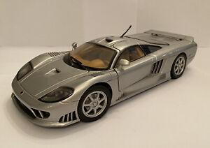 1-18-Motormax-Saleen-S7-argento-senza-confezione-MOLTO-RARA