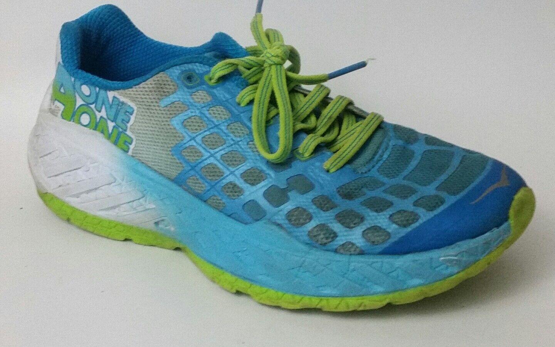 Hoka One One Damenschuhe 7.5 M Clayton Running Schuhe Green Blau WEISS Sneaker Athletic