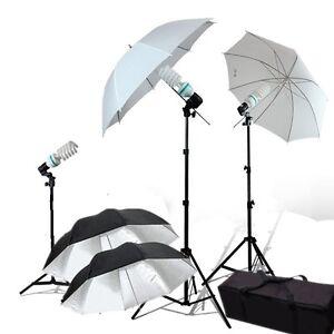 Photography 4xUmbrella 3x 45 watt Continuous Lighting Kit Video Studio Light kit