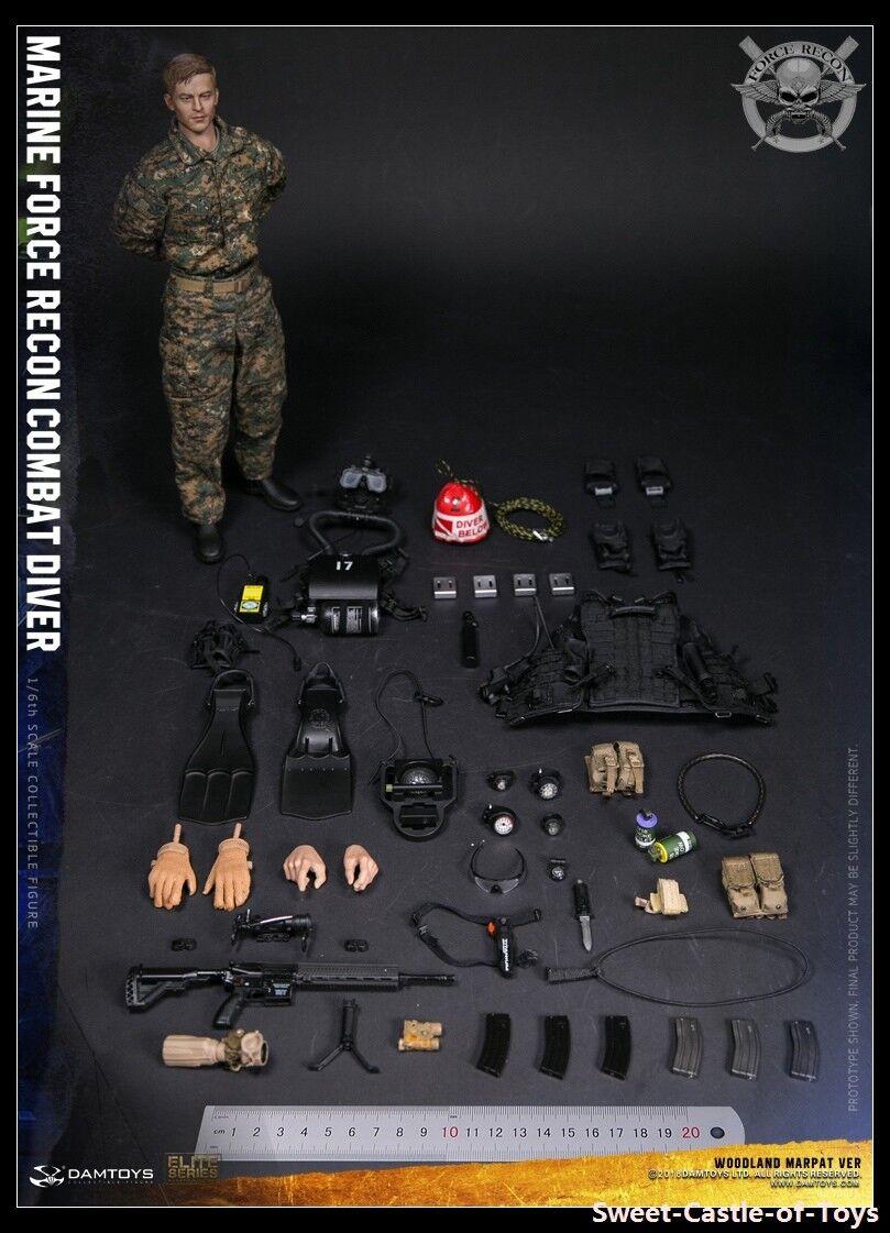 1 6 Dam giocattoli giocattoli giocattoli US Marine Force Recon Combat Diver Woodle Marpat Ver 78055 cifra ce85a2