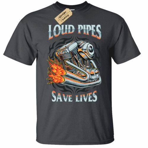 Loud Pipes Save Lives Mens T-Shirt biker rider motorbike motorcycle bike