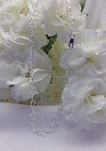 Sterling-Silver-Open-Heart-Bracelet-Ankle-Bracelet-2949-Plus-Sizes-Available