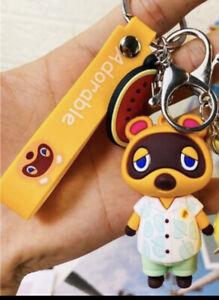 Animal Crossing Tom Nook Hanger Figure Bag Clip Key Chain NEW