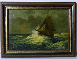 Seestueck-Ol-auf-Holz-ca-1890-signiert