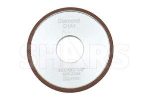 "SHARS 6 X 1//16 X 1-1//4/"" D1A1 DIAMOND GRINDING WHEEL 150 GRIT MAX RPM 4300 NEW A|"