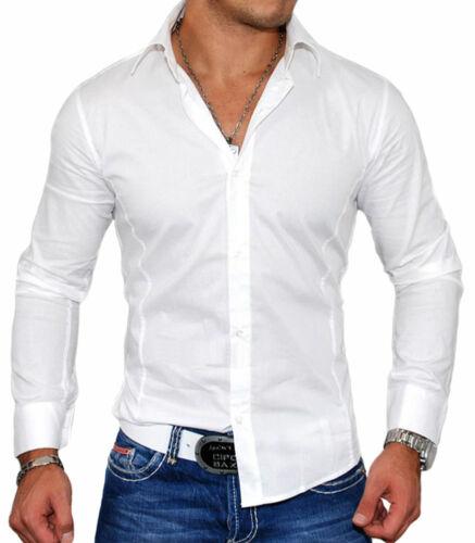 Chemise slim-fit pour homme Chemise 2205 blanc