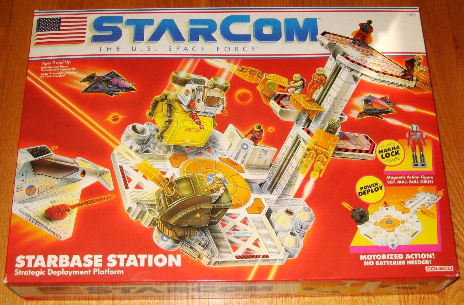 StarCom - Starbase Station - Vintage 1987 Collectible Playset - COLECO - NIB