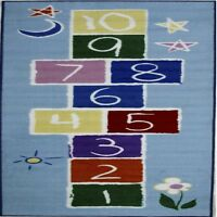 Rugs Area Rugs 100% Nylon Carpet Fun Time Primary Hopscotch 2 Sizes Multi-color