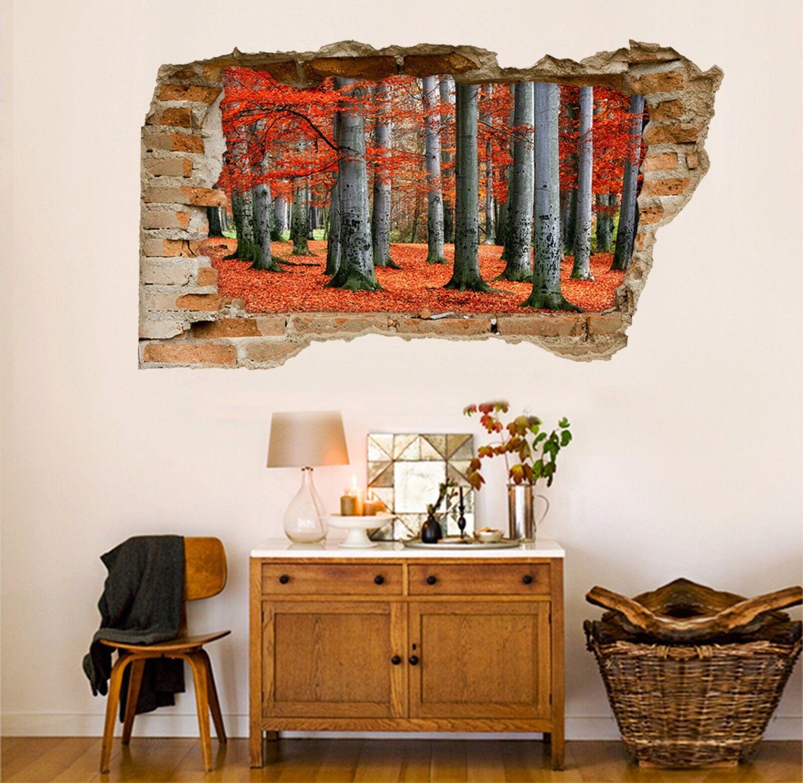 3D Alberi Forestali 159 Parete Murales Adesivi Decal Sfondamento AJ WALLPAPER IT