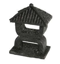 Superfish Zen Deco Mini templo Acuario Peces Tanque Ornamento Decoración Negro 10cm