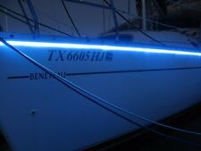 "ORANGE - Beautiful ""LED lights""  - - under deck light kit - 12v BOAT marine"