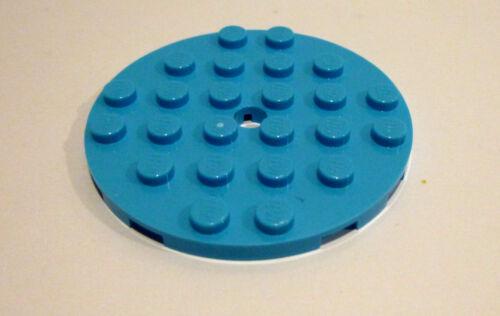 1 x LEGO ® 11213 construction-plaque avec trou milieu 6x6 turquoise neuf.