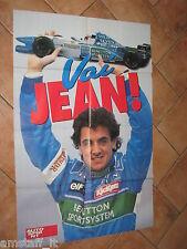 # POSTER JEAN ALESI BENETTON RENAULT 1996 CM.80X54 AB12