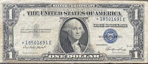 USA-1-Dollar-1935-E-Silver-Certificate-One-Banknote-STAR-NOTE-Schein-21994
