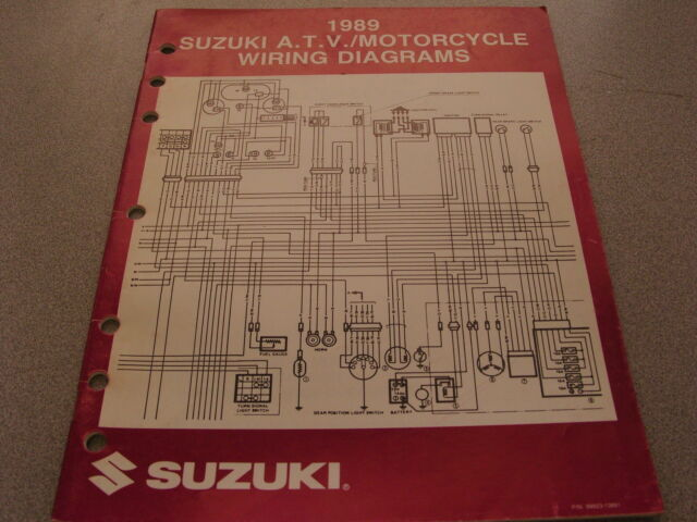 Suzuki Atv  U0026 Motorcycle Wiring Diagrams Manual 1989 99923