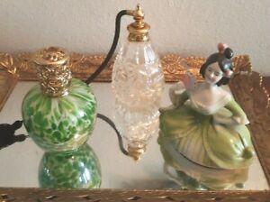 VTG-JUNK-DRAWER-VANITY-Lot-Atomizer-Perfume-Bottle-Diffuser-Sothern-Belle-Lady