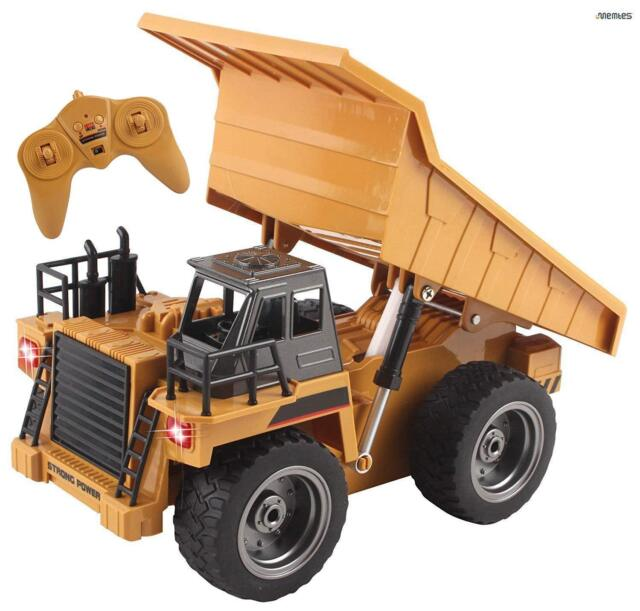Full Functional Remote Control Dump Truck Construction Toy 6 Channel RC 2,4G