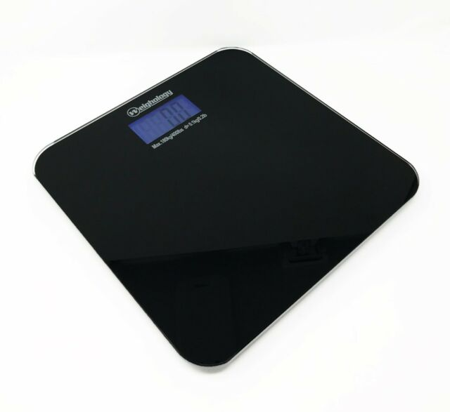 Tempered Gl Digital Bathroom Body Weight Scale 400 Lbs Capacity
