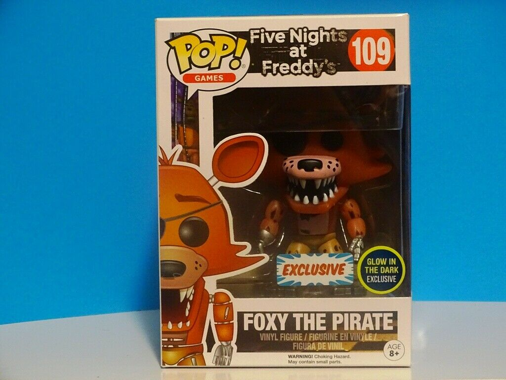FUNKO POP  GAMES FIVE NIGHTS AT FREDDY'S - FOXY THE PIRATE - GITD EXCL +P P