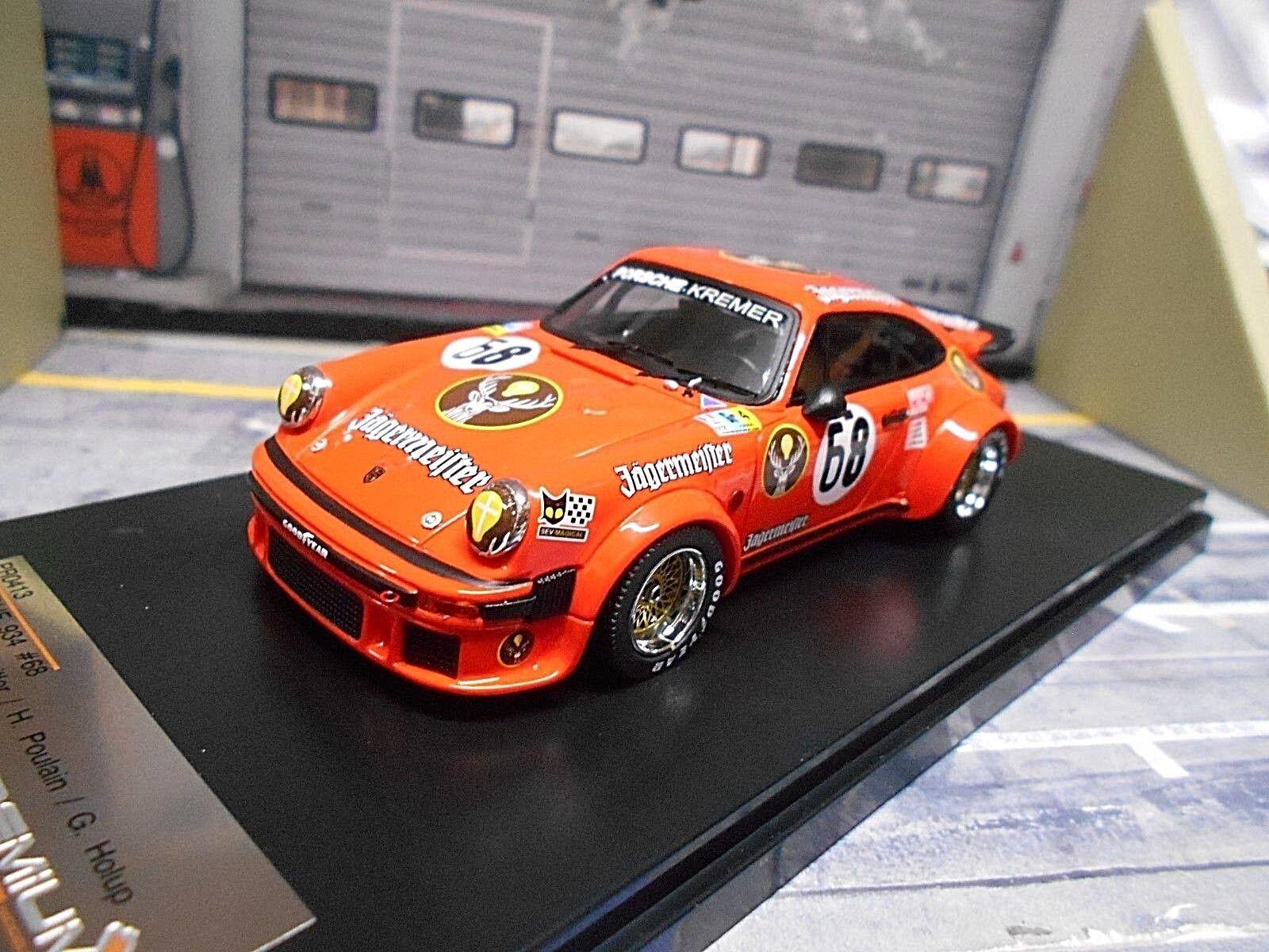 Porsche 911 934 TURBO LE MANS  68 Jagermeister Dören feitler Holub IXO X pr 1 43