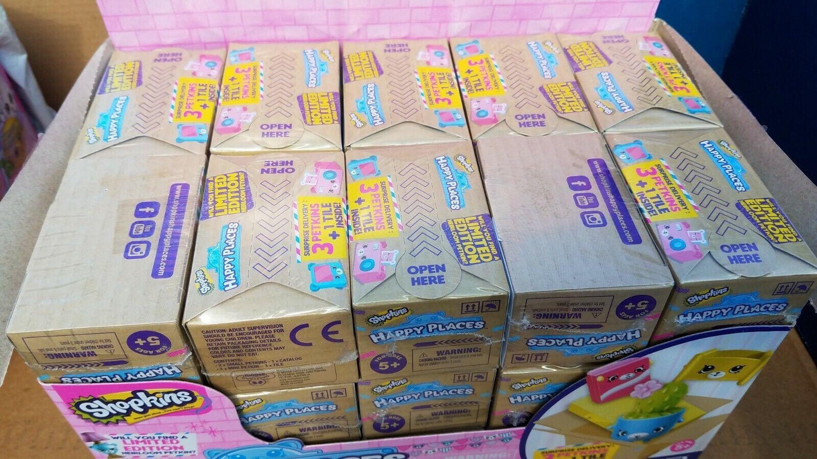 Lote de Caja de 30 Shopkins feliz lugares ciego Serie De Caja Nuevo