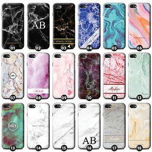 new style 0a794 89828 Details about Personalised Marble Phone Case Cover for Apple iPhone Initial  Text Name Custom