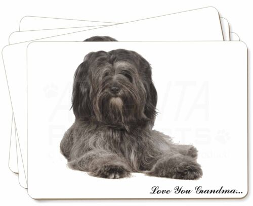 Tibetan Terrier 'Love You Grandma' Picture Placemats in Gift Box, ADTT2lygP