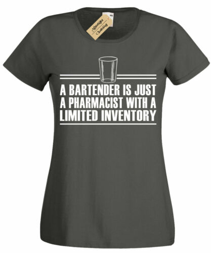 Womens Bartender Limited Inventory T Shirt funny pub gift Ladies