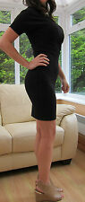 TED BAKER New! ~Langley~ Black Dress UK 8 1 ~Party~ Office Formal Stretch Wiggle