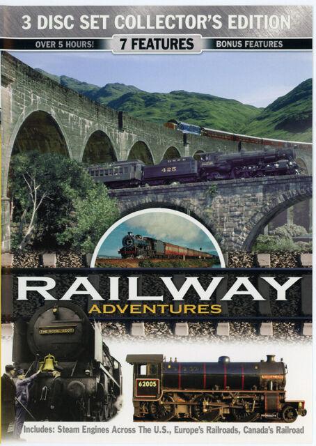 Railway Adventures (DVD, 2008, 3-Disc Set)