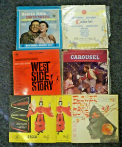 6-x-Stage-Musicals-Mikado-Carousel-Camelot-West-Side-LP-Record-Bulk-Lot